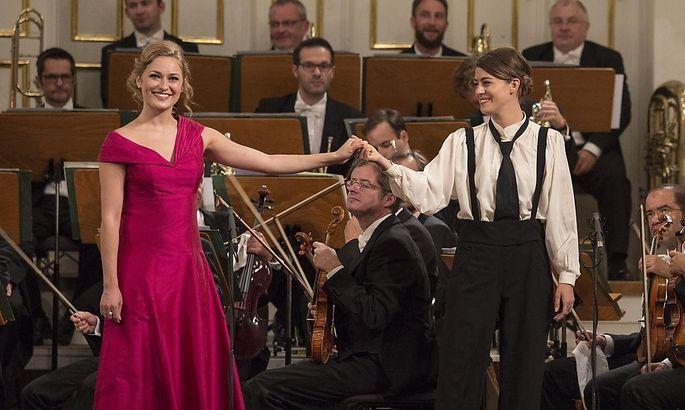Nika Goric (l.) und Valentina Stadler beim Abschlusskonzert im Mozarteum.