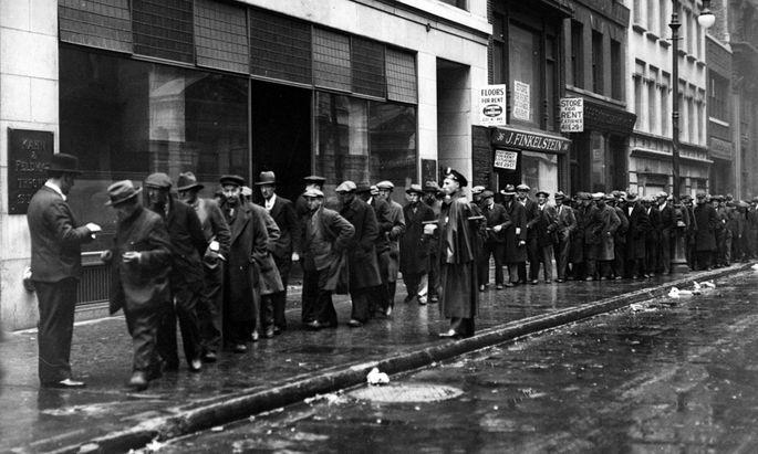 Arbeitslose in den USA 1930