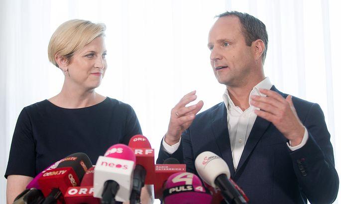 Beate Meinl-Reisingerbei der gemeinsamen Pressekonferenz nach dem erweiterten Parteivorstand.