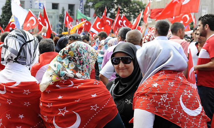 Pro-Erdogan-Demo in Wien