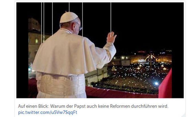 Twitter sind Papst weisser