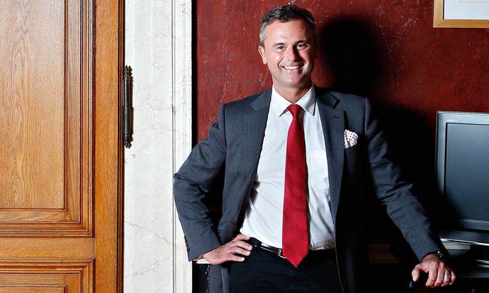 Norbert Hofer, derzeit Dritter Nationalratspräsident – und Kandidat der FPÖ für die Stichwahl um das Amt des Bundespräsidenten am Sonntag.