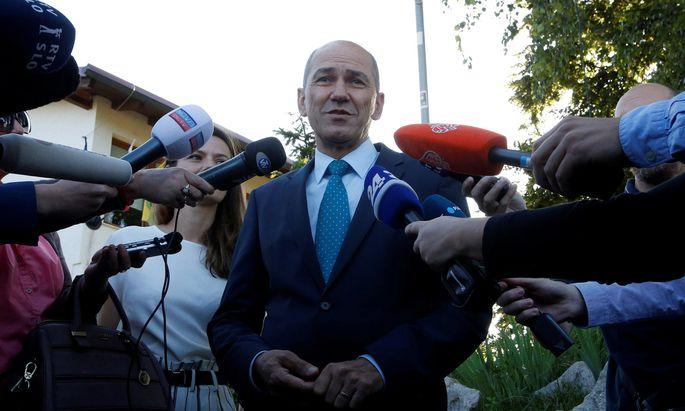 Oppositionsführer Janez Janša ging als klarer Favorit in die Wahl.