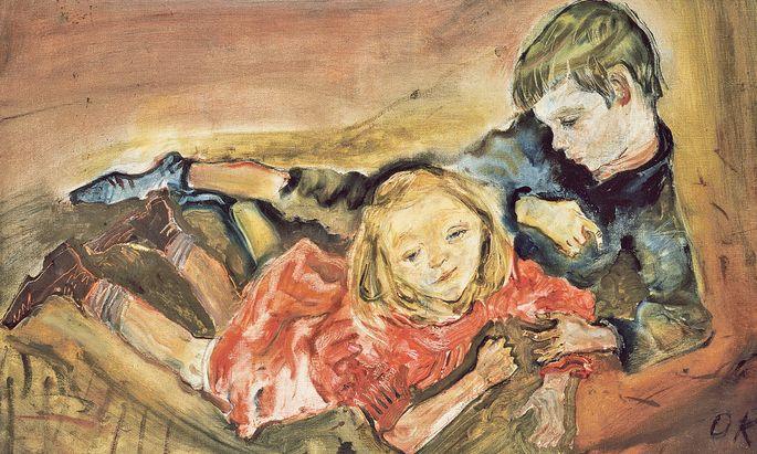 """Kinder spielen in Kokoschkas Werk eine große Rolle, er hatte genaue pädagogische Konzepte: """"Spielende Kinder"""" (1909)."""