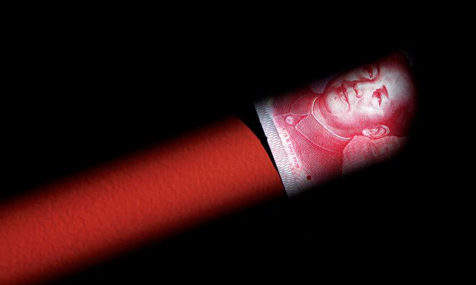 A 100 Yuan note is seen in this illustration picture in Beijing