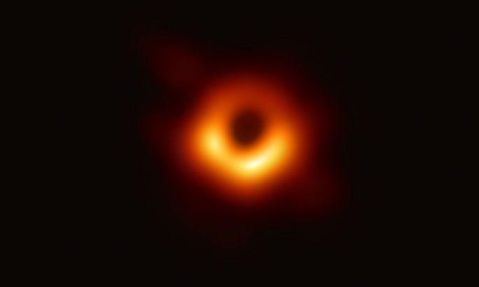 Dieses Bild soll ein Schwarzes Loch zeigen.