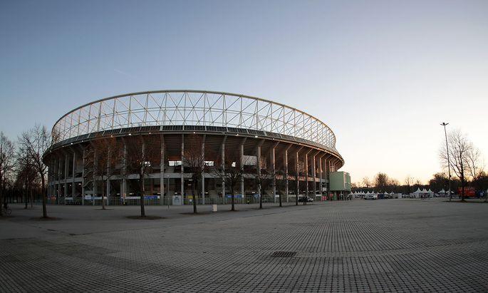 """Das Happel-Stadion ist für internationale Fußball-Großereignisse nicht mehr """"fit"""" genug."""