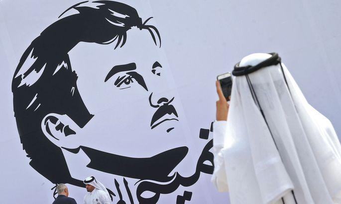 Bildnis von Emir Tamim bin Hamad Al-Thani
