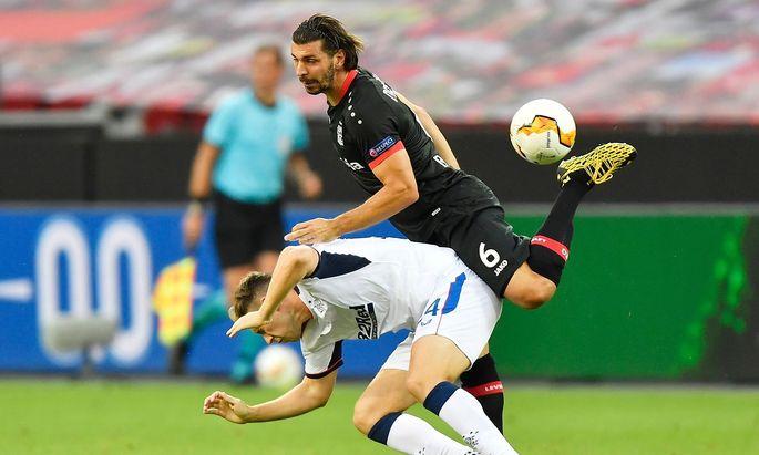 Aleksander Dragovic gegen die Rangers