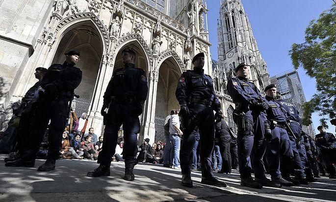 Archivbild: Mit der Besetzung der Wiener Votivkirche war der Grundstein für den Prozess gelegt.
