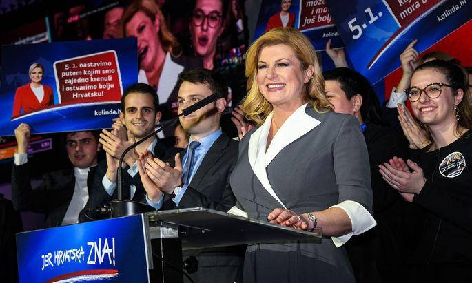Präsidentin Kolinda Grabar-Kitarović wurden im ersten Wahldurchgang nur Zweite. Sie hofft nun auf den Sieg in der Stichwahl.