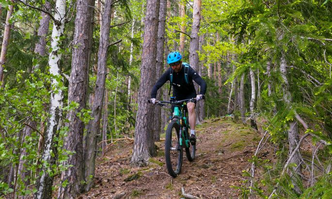 Mountainbike-Kursen verhelfen zu Fahrtechnik-Wissen und Übung.