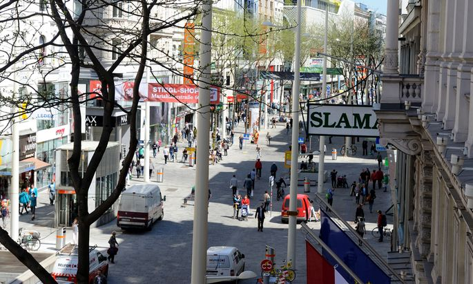 Kein allzu teures Pflaster: die verkehrsberuhigte Mariahilfer Straße.