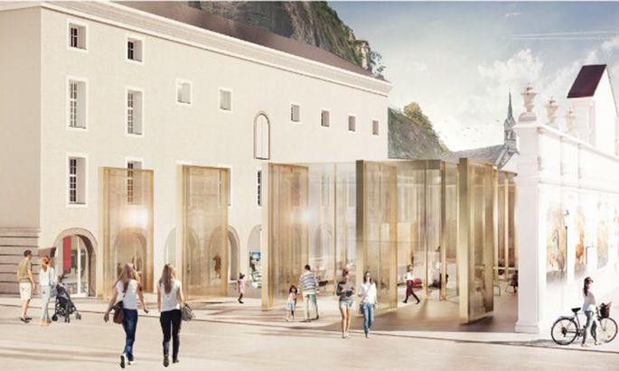 """Das geplante """"Festspielzimmer"""" in Salzburg."""