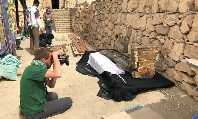 Für die Bestattungszeremonien im alten Ägypten wurden Särge und Grabstätten – hier von Anch-Hor – wiederverwendet.