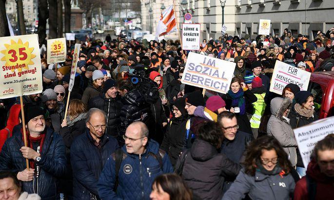 Warnstreik der Beschäftigten der Sozialwirtschaft