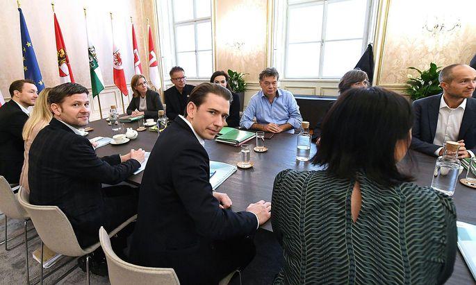 Türkis-grünes Sondierungsgespräch