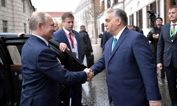 Putin und Orban am Mittwoch in Budapest