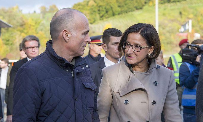 Verteidigungsminister Klug und Innenministerin Mikl-Leitner