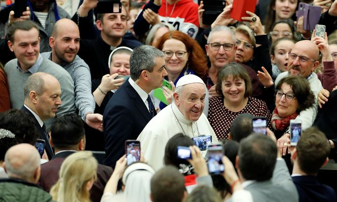 Pope Francis holds the weekly general audience at the Vatican