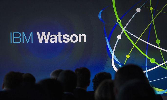 Attendees gather at IBM Watson event in lower Manhattan, New York