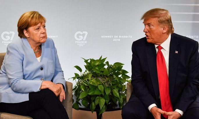 Angela Merkel und Donald Trump: Ziemlich beste Freunde sind sie nicht