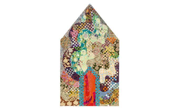 """Eine der prächtigen Textilcollagen Miriam Schapiros (1923–2015): """"Dormer"""", 1979."""