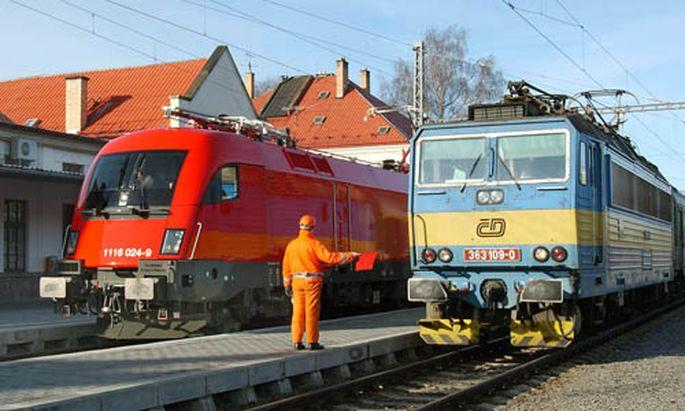 Tschechische Bahn Schwitzen nach