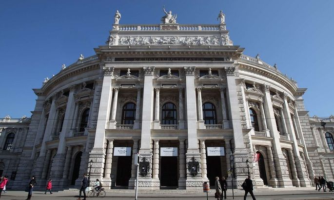 A general view of Austria's historic Burgtheater theatre in Vienna