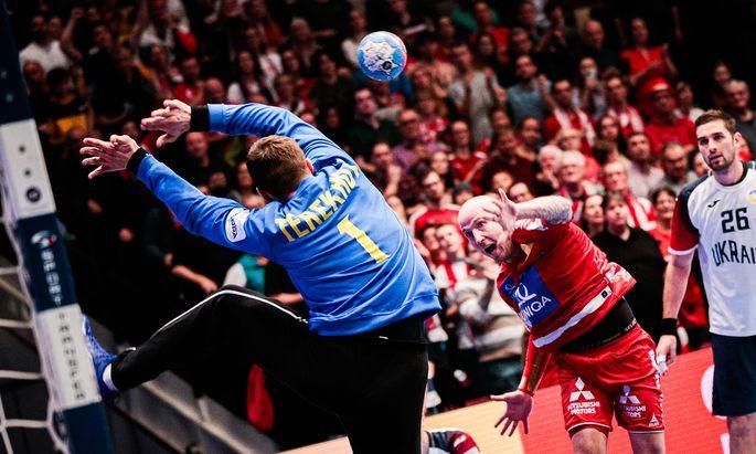 Robert Weber war mit acht Treffern gegen die Ukraine ein wesentlicher Erfolgsfaktor im Spiel der Österreicher.