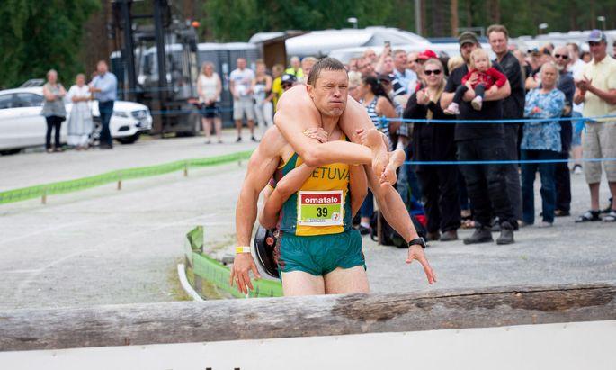 Das Siegerpaar: Vytautas und Neringa Kirkliauskas