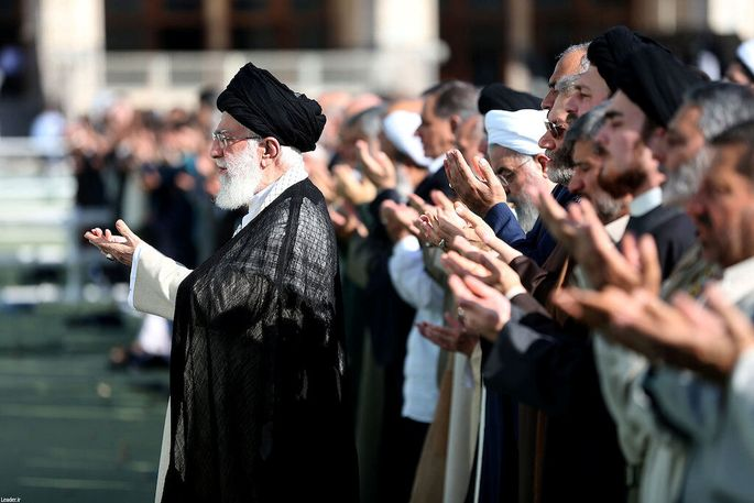 Irans geistliches Oberhaupt ist Ayatollah Ali Khamenei