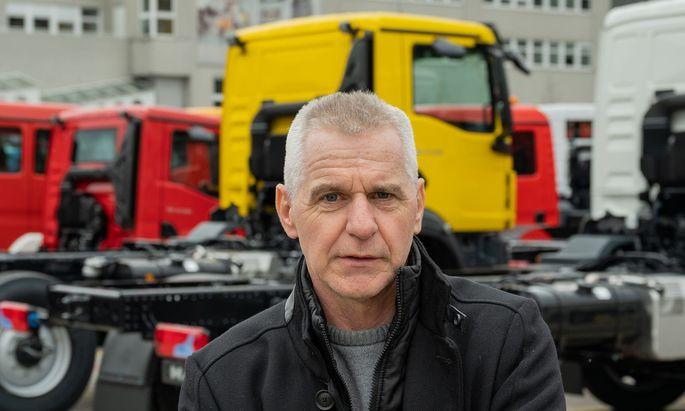 Arbeiterbetriebsrat Helmut Emler