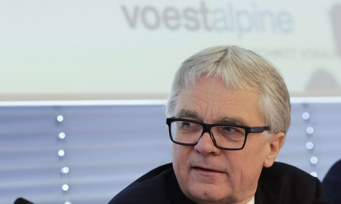 Austrian steel group Voestalpine Chief Executive Wolfgang Eder listens to journalists´ questions during a news conference in Vienna