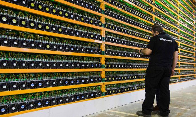"""Auf dieser """"Bit-Farm"""" im kanadischen Saint-Hyacinthe werden Bitcoins geschürft."""