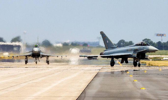 Eurofighter bei der Internationalen Luftfahrtausstellung.