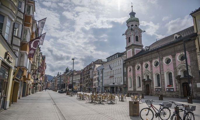 Die Innsbrucker Innenstadt in Zeiten von Corona