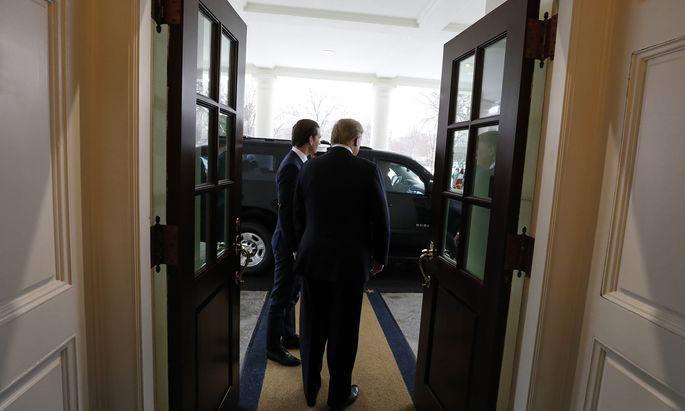 US-Präsident Donald Trump sucht nach Verbündeten in der EU. Im Weißen Haus versuchte er, den österreichischen Bundeskanzler, Sebastian Kurz, auf seine Seite zu ziehen.