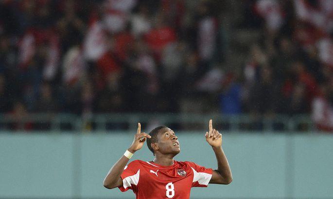 David Alaba ist überzeugter Christ. Der Fußballstar dankt für jedes Tor, für jedes Spiel.