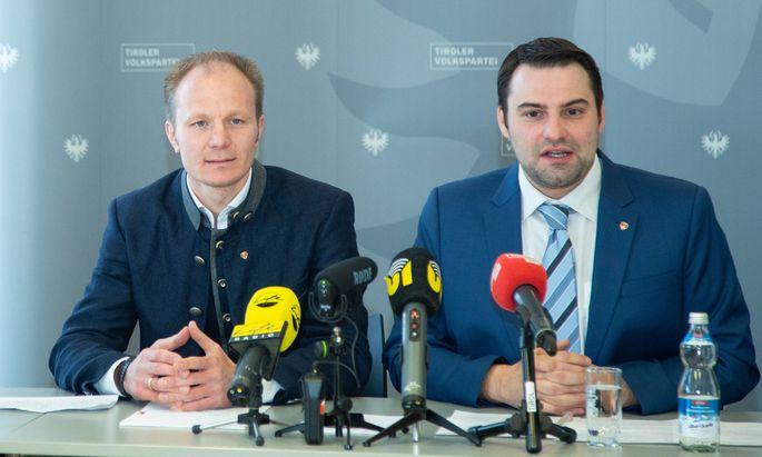 Johannes Anzengruber und Gemeinderat Christoph Appler.