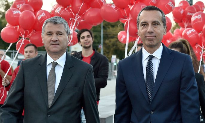 SPÖ-Bundesgeschäftsführer Georg Niedermühlbichler und Kanzler Christian Kern
