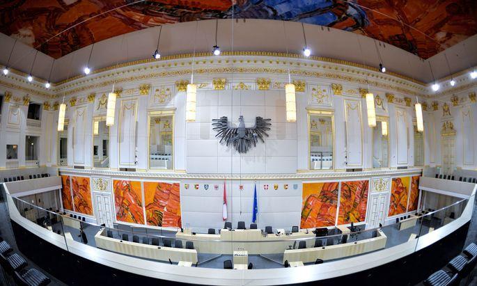 Plenarsaal in der Hofburg.
