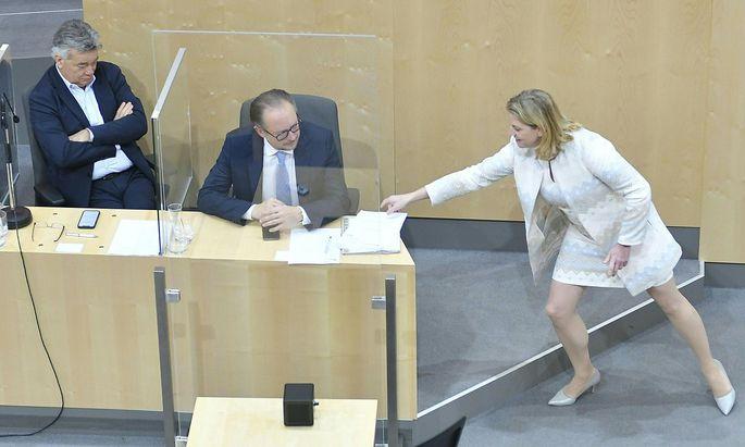 SONDERSITZUNG DES NATIONALRATS: KOGLER/SCHALLENBERG/MEINL-REISINGER
