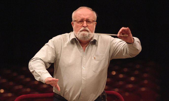 Auch als Dirigent eigener Werke polyglott: Krzysztof Penderecki (1933–2020).