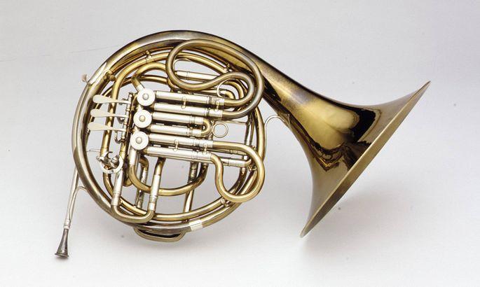 Double Horn in F B flat 1904�19 Erfurt Germany German Brass nickel silver Height 16 1 2 in