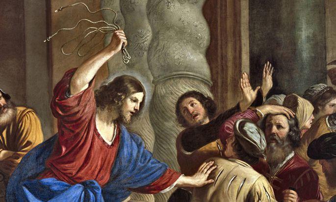 War Jesus Kapitalismus- kritiker? Die Händler vertrieb er zumindest aus dem Jerusalemer Tempel.