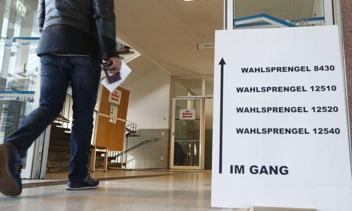 Wählen in Kärnten, während der Pandemie