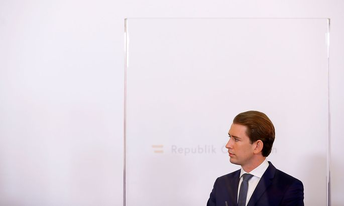 Austrian Chancellor Kurz addresses a news conference in Vienna