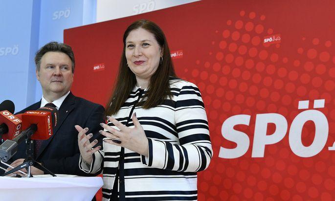 Michael Ludwig präsentierte nun seine neue Parteimanagerin, Barbara Novak, die für 2020 auch Wahlkampfleiterin wird.