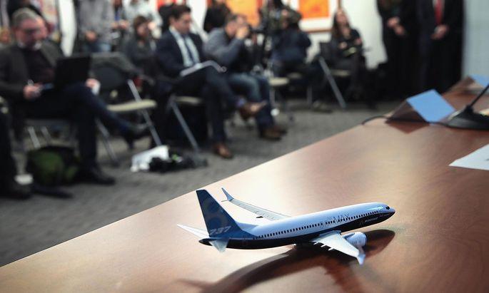 Das Modell einer Boeing 737 MAX